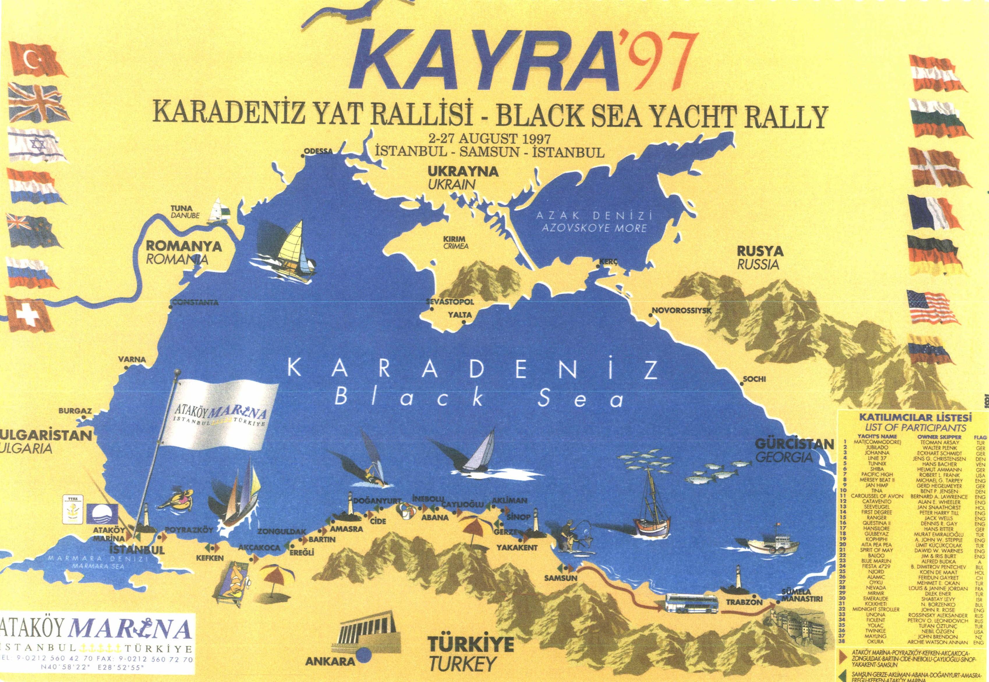 Karadeniz Yat Rallisi - Black Sea Yacht Rally - 1997